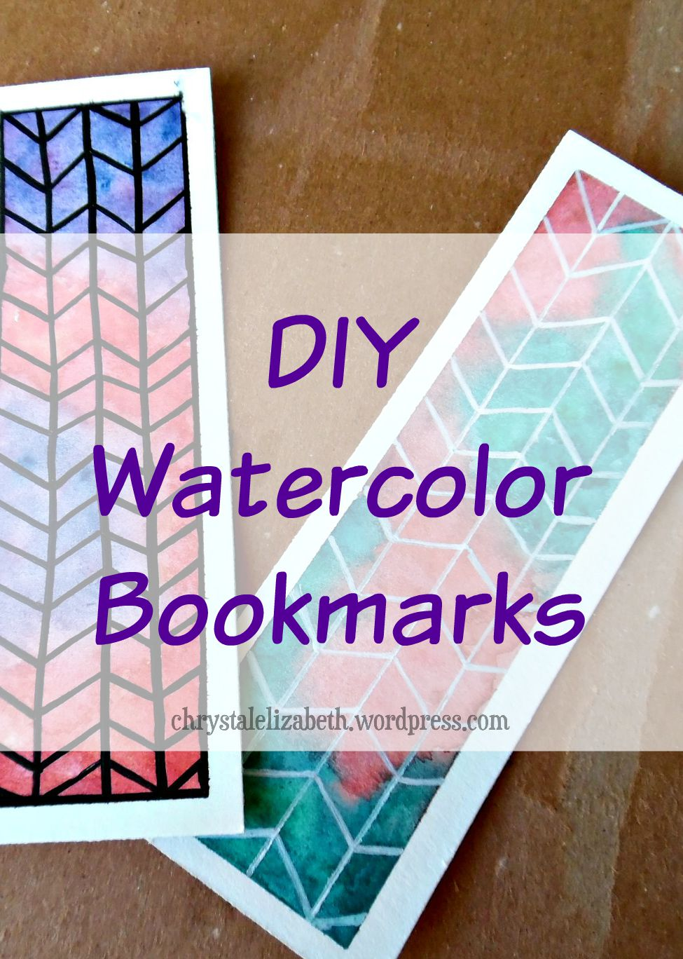 975x1368 Diy Watercolor Bookmarks {How I Made It Step By Step