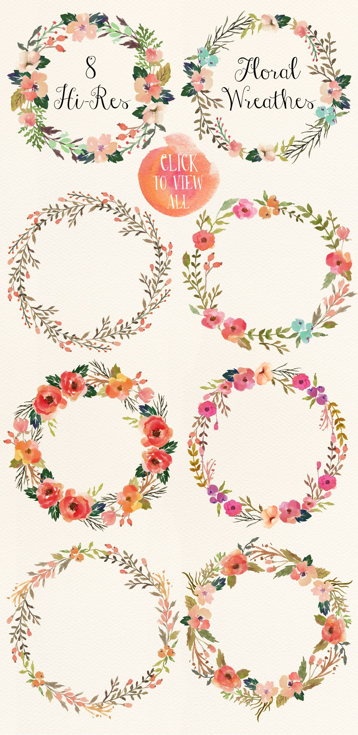 1161x2385 Watercolor Flower Diy Pack Vol.3 By Graphic Box On Creative Market
