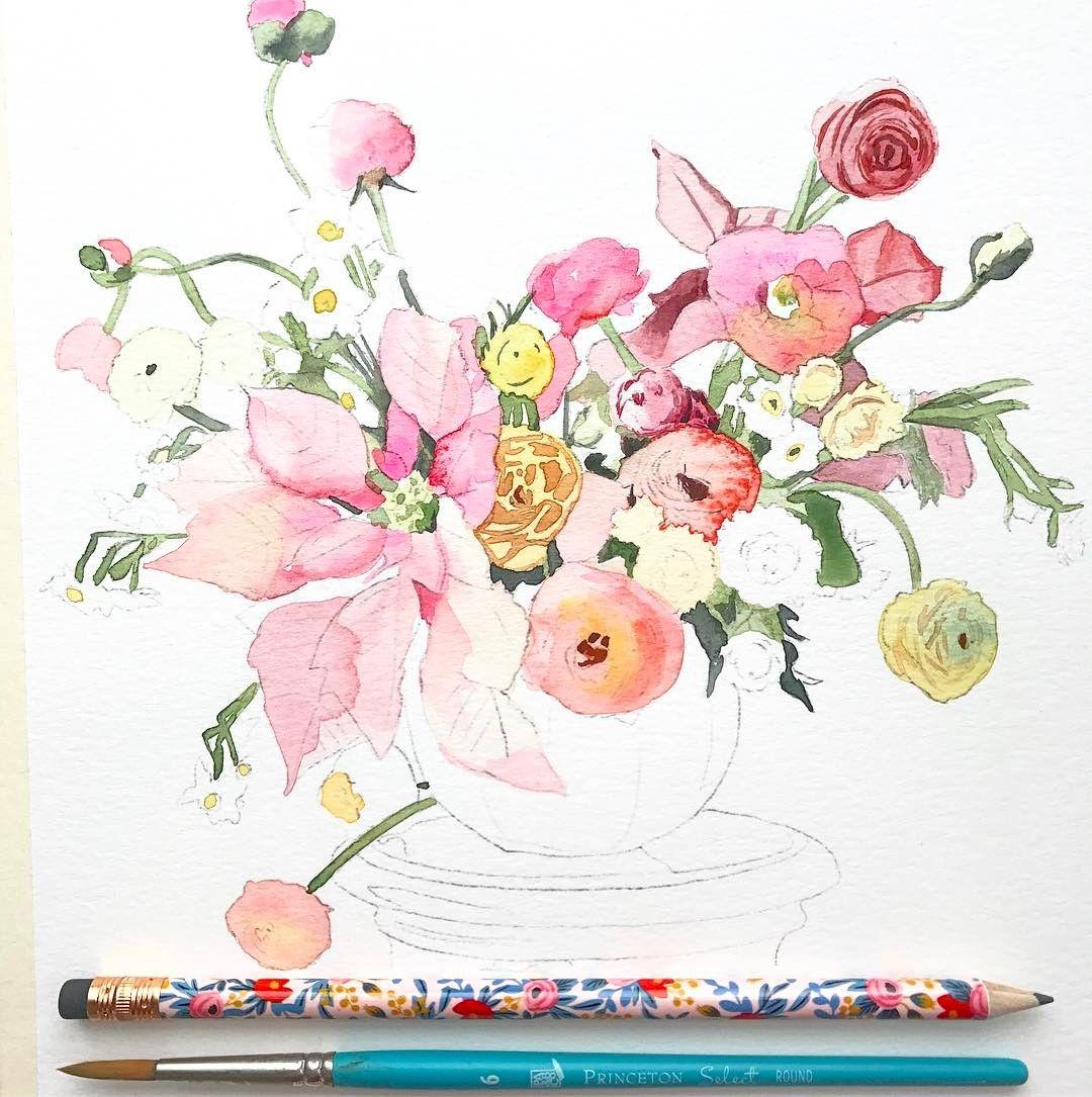 1080x1085 Watercolor Paintings Watercolor Art, Watercolor Flowers, Diy