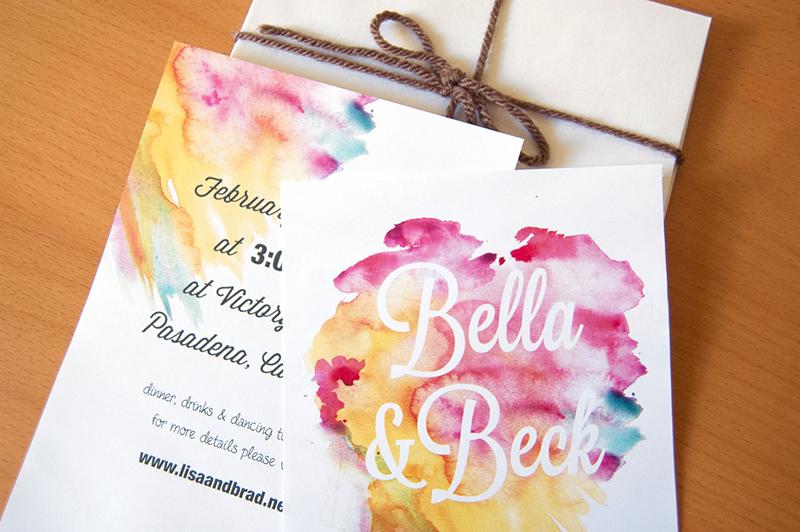 Diy Watercolor Invitations