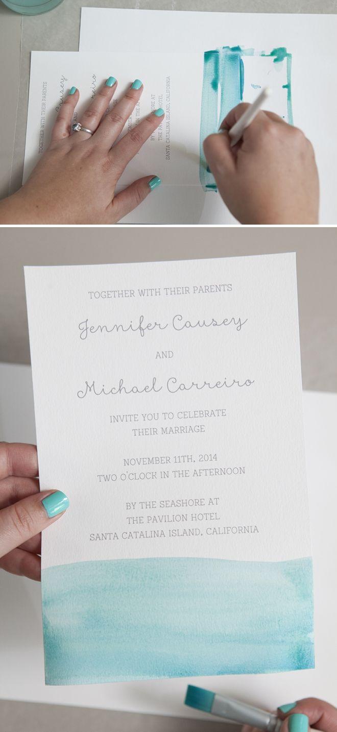 660x1434 Learn Exactly How To Diy Watercolor Wedding Invitations! Wedding