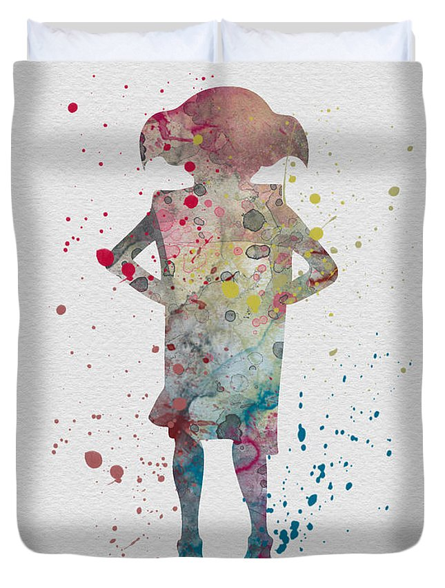 645x853 Dobby Watercolor Duvet Cover For Sale By Vivid Editions