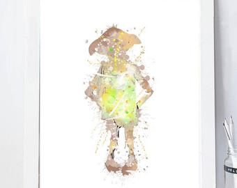 340x270 Dobby Watercolor Etsy