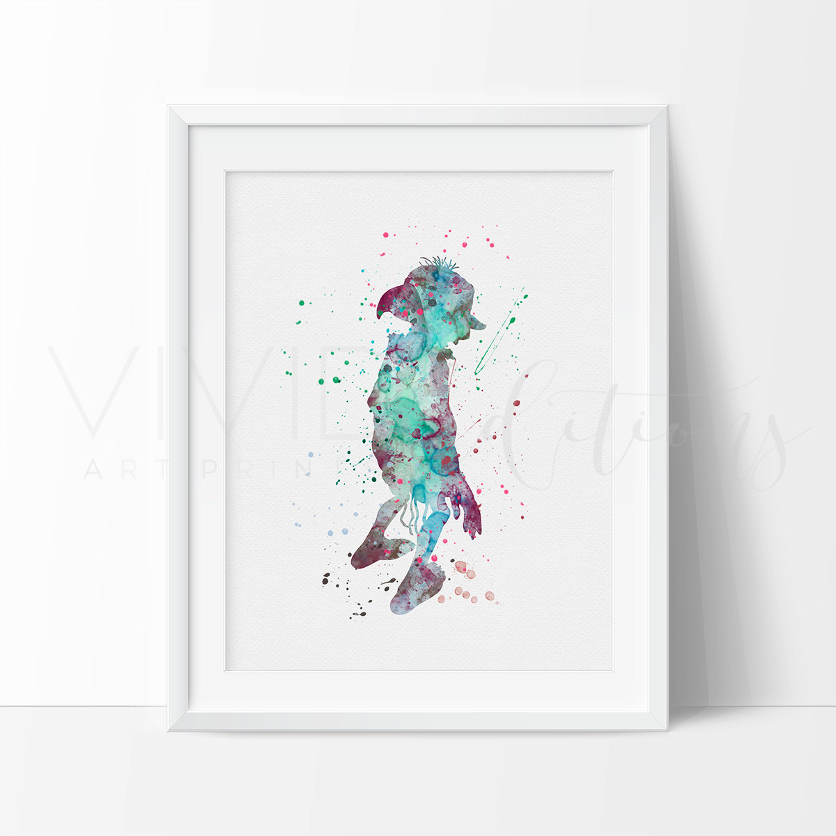 1200x1200 Harry Potter Dobby Watercolor Nursery Art Print, Kids Wall Art