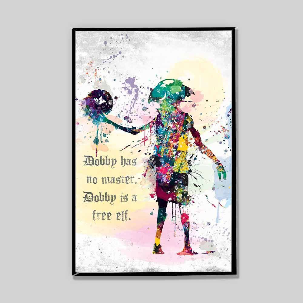 1000x1000 Clearance Dobby Watercolor Poster, Dobby Is A Free Elf, Severus
