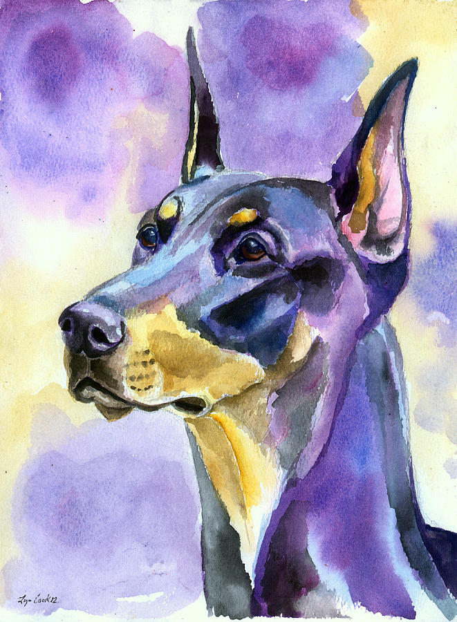 661x900 Doberman Paintings Fine Art America