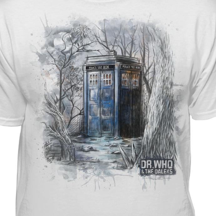690x690 Doctor Who Watercolor Tardis Official Licensed T Shirt Teelocity