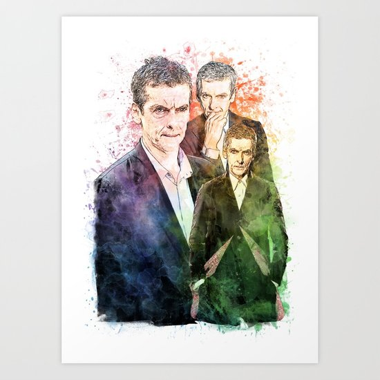 550x550 12th Doctordoctor Whopeter Capaldi Inspired Mixed Media