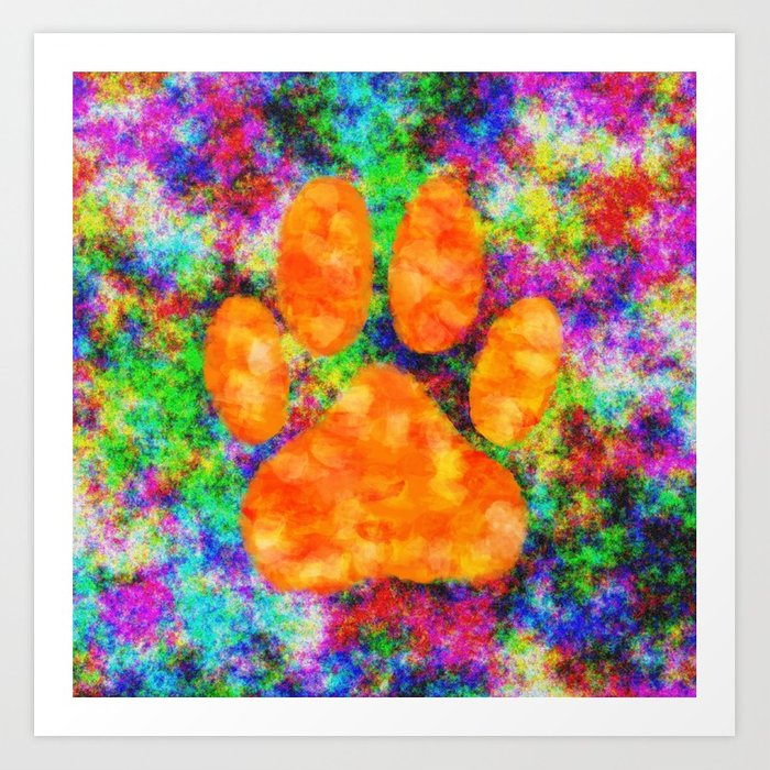 700x700 Dog Paw Print Watercolor Art Print By Almdrs Society6