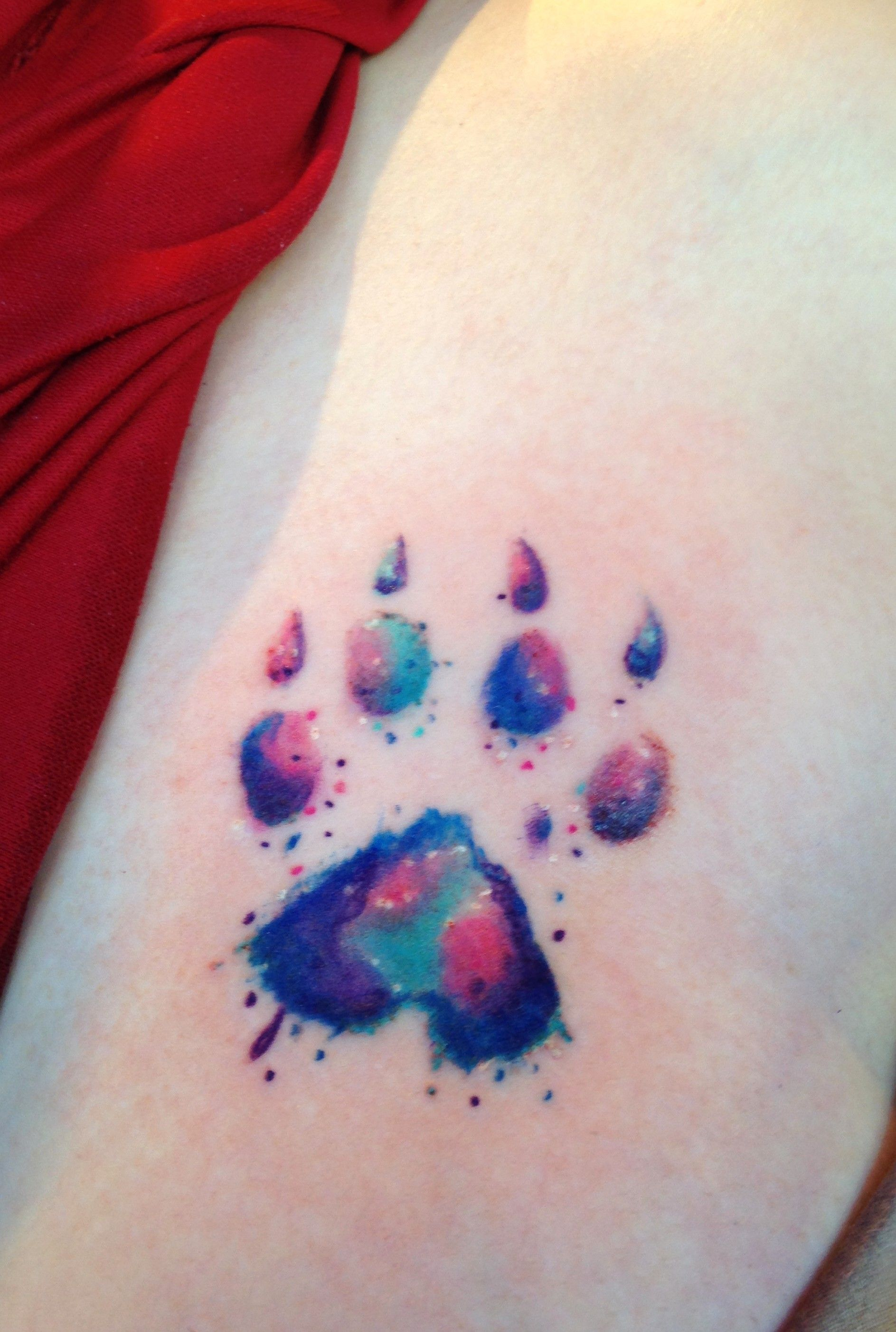 1887x2805 Dog Paw Print Watercolor Tattoo By Diane Lange @ Moonlight Tattoo