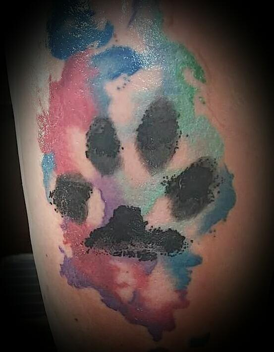 553x709 Watercolour Paw Print Secret Ink Tattoo