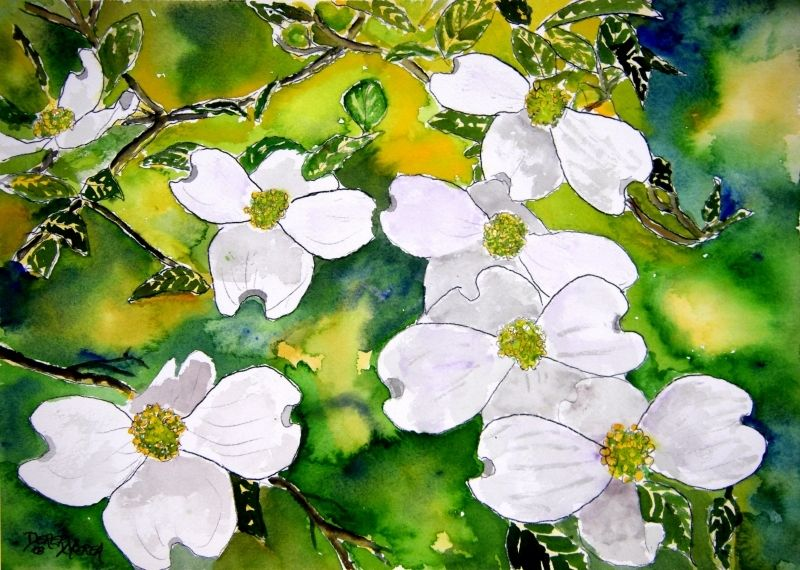 graphic about Legend of the Dogwood Tree Printable named Dogwood Watercolor at  Free of charge for person