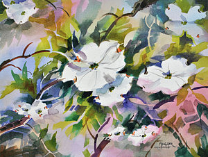 300x226 Dogwood Flower Paintings Fine Art America