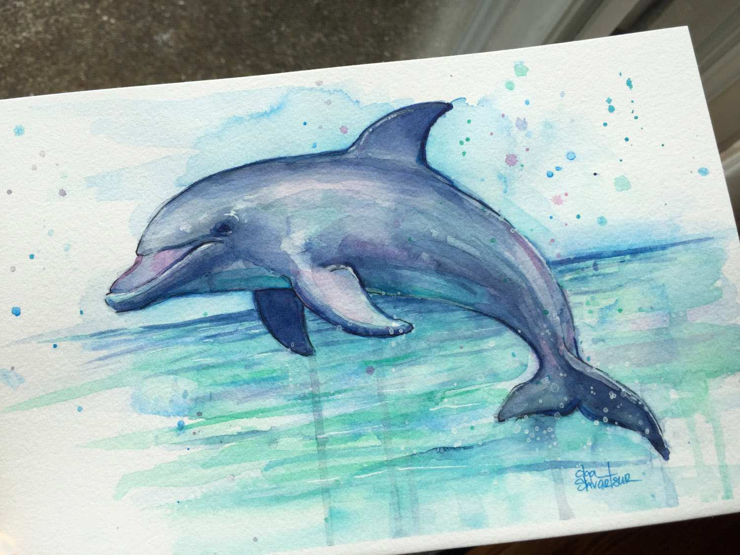 1500x1125 Dolphin Painting Inspirational Dolphin Watercolor Painting Dolphin