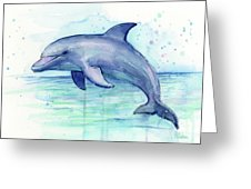 226x170 Dolphin Watercolor Greeting Card For Sale By Olga Shvartsur