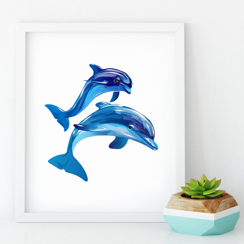 800x800 Buy Ocean Animal Dolphin Print Wall Pictures Home