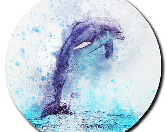 340x270 Dolphin Watercolor Etsy