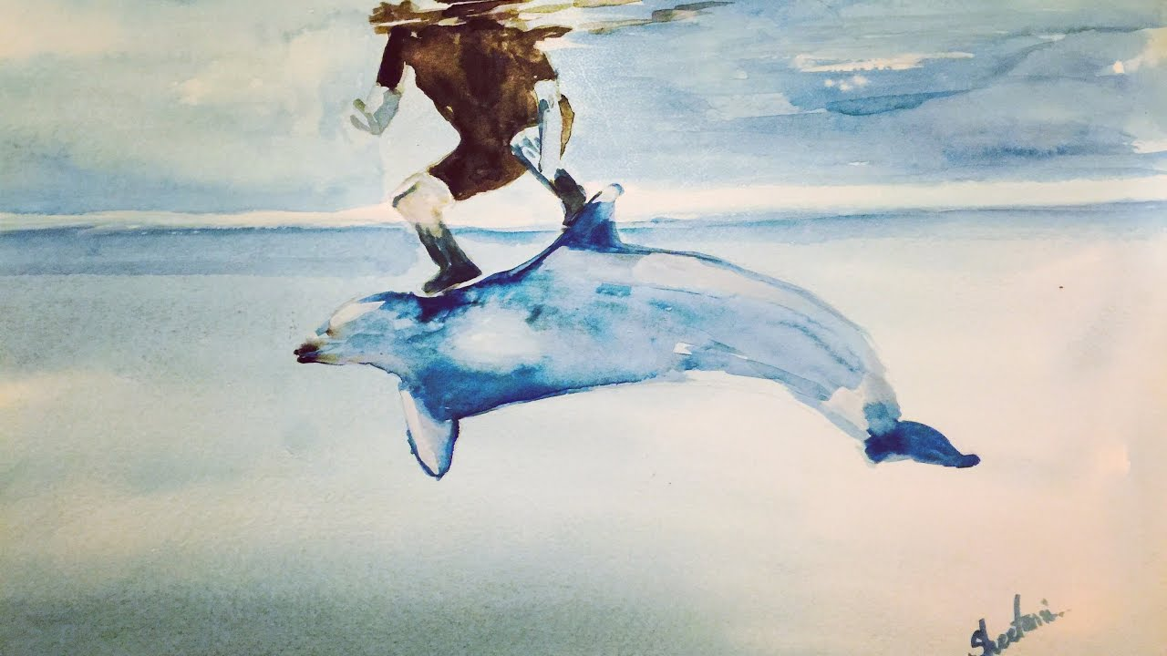 1280x720 Dolphin Watercolor Painting Tutorial [Sheetami]