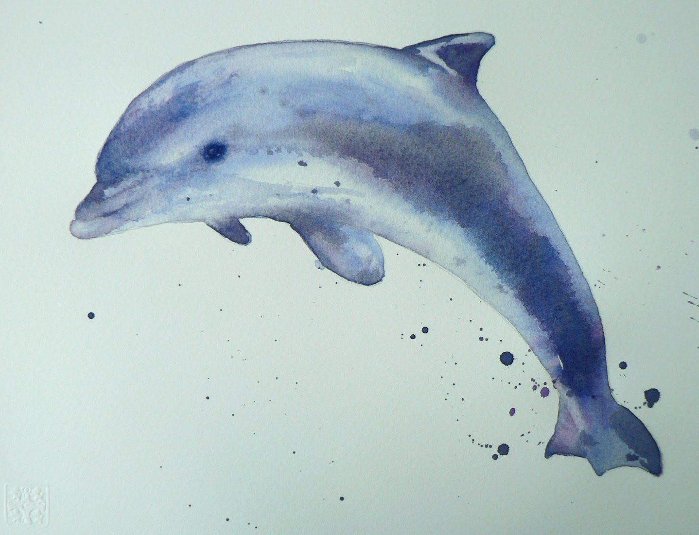 1438x1101 Watercolor Dolphins Dolphin Watercolor Demo