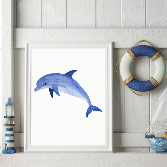 640x640 Buy Ocean Animal Dolphin Print Wall Pictures Home