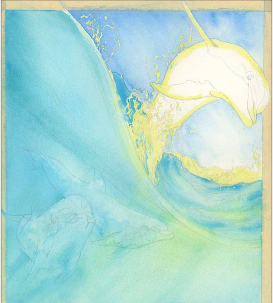 564x626 Painting Dolphins In Watercolor Quarto Knows Blog