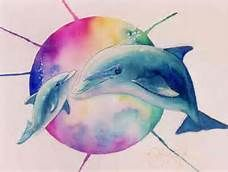 228x172 Watercolor Dolphin Tattoos