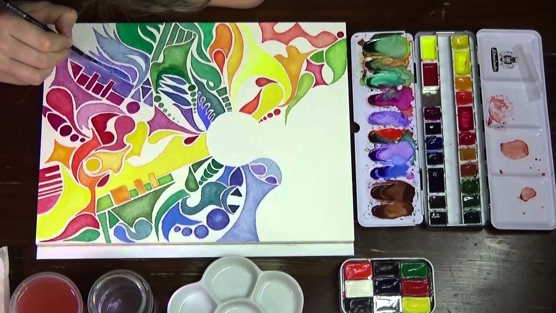 1920x1080 Speed Painting Just Doodle Watercolor