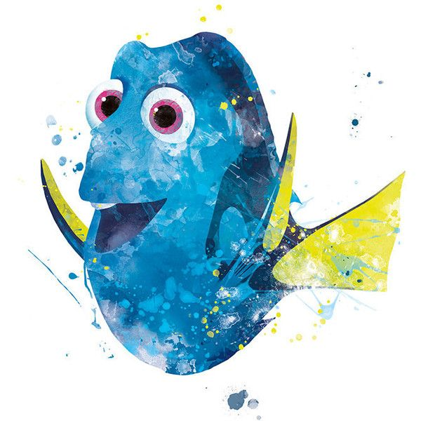 600x600 Dory Print, Dory Watercolor, Dory Wall Art, Disney Nemo, Dory