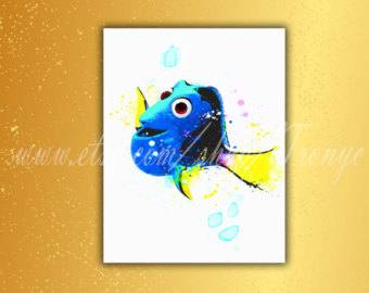 340x270 Dory Watercolor Etsy