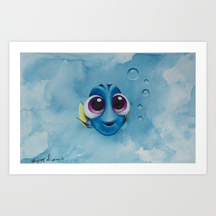 700x700 Finding Dory Watercolor Painting Art Print By Corysimpsonart