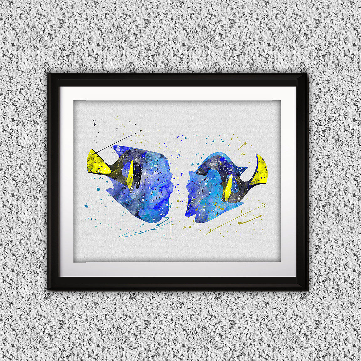 1152x1152 Finding Dory Watercolor Print, Finding Dory Art, Finding Dory