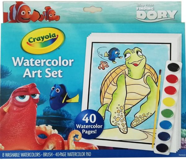 600x517 Souq Crayola Finding Dory 04 6892 Watercolour Paper Set Uae