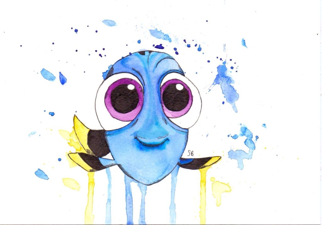 1024x718 Baby Dory Watercolour Arty Farty Watercolor And