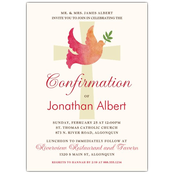600x600 Watercolor Dove Confirmation Invitations Paperstyle