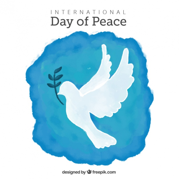 626x626 Watercolor Background With Dove And Olive Branch Vector Free