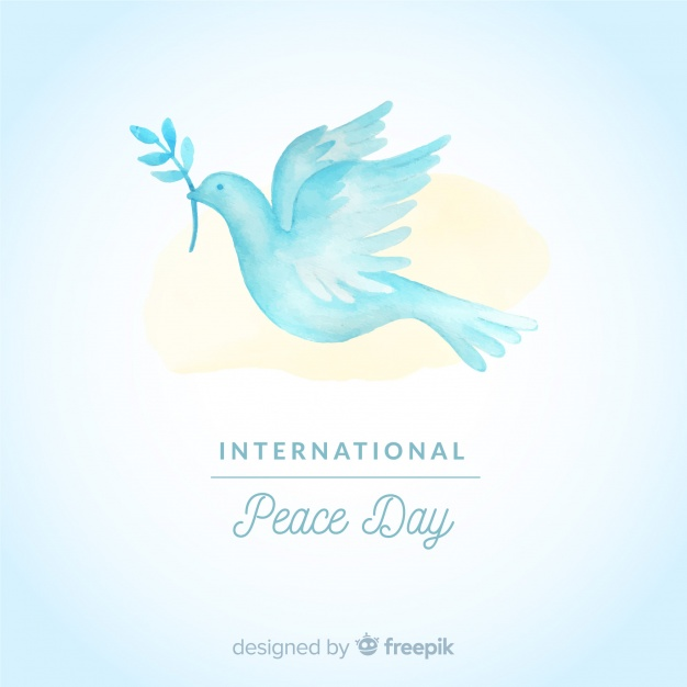 626x626 Watercolor Day Of Peace Composition With White Dove Vector Free