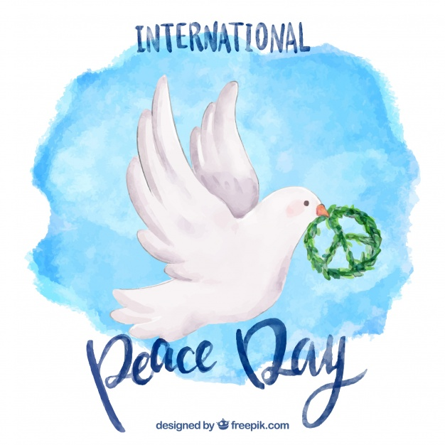 626x626 Watercolor Dove With Peace Symbol Vector Free Download