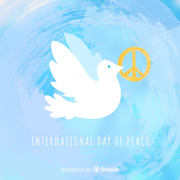 626x626 Watercolor Peace Day Background With White Dove Vector Free Download