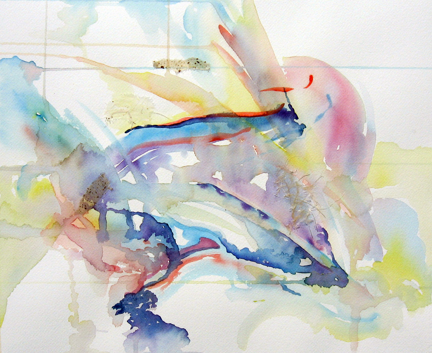 1500x1225 White Dove Watercolor And Rice Paper Collage Leslie White