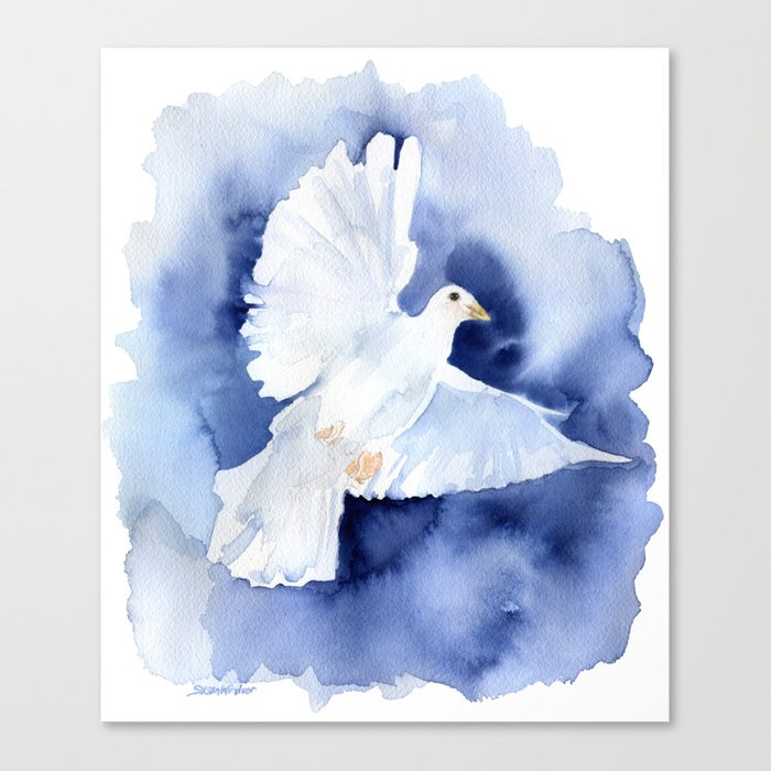 700x700 Dove Watercolor Canvas Print By Susanwindsor Society6