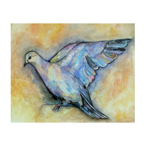 300x300 Dove Watercolor Painting By Amanda Hukill