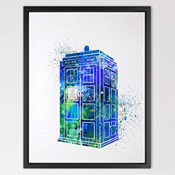 355x355 Dignovel Studios 11x14 Tardis Multi Colored Dr Who