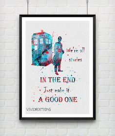236x279 Doctor Who, Dr Who Art, Doctor Who Print, Tardis Print, Tardis