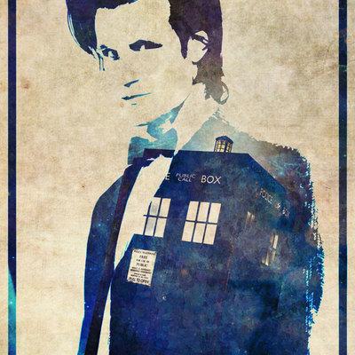 400x400 Doctor Who 11th Dr Matt Smith Tardis Poster