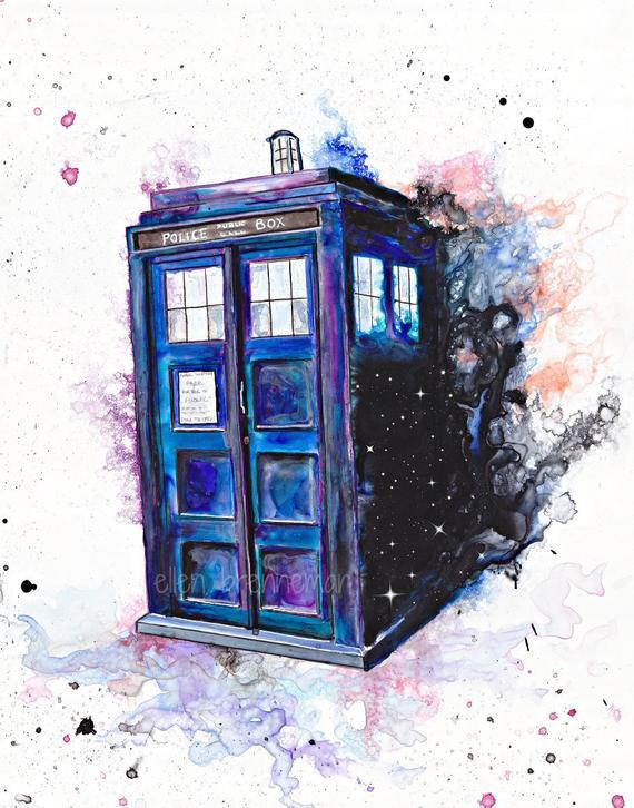 570x726 Doctor Who Tardis Police Call Box Art Print Etsy