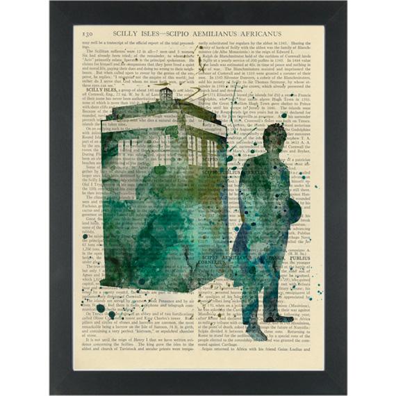 570x570 Dr Who Tardis Watercolor Dictionary Art Print