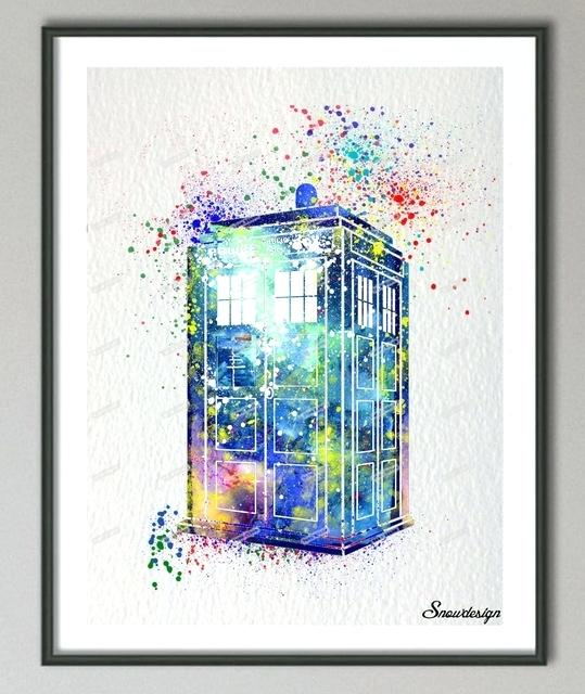 539x640 Dr Who Wall Art Best Wall Fresh Original Watercolor Doctor Who