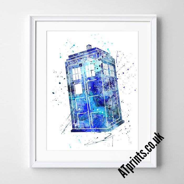 700x700 Dr Who Watercolour Art Print Atprints
