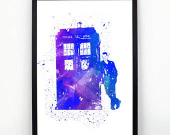 340x270 Dr Who Watercolor Etsy