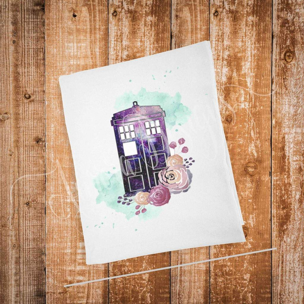 1024x1024 Dr Who Watercolor Panel